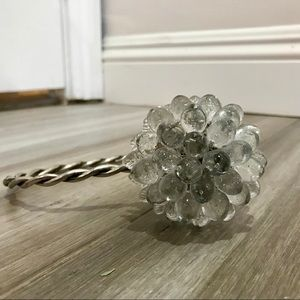 Urban Outfitters Crystal Flower Curtain Tie-Back